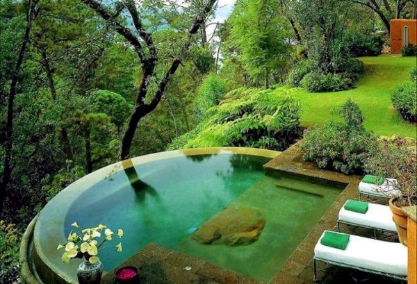 Charmant ... With Pool Garden Design   20 Stunning Garden Pool Inspiration