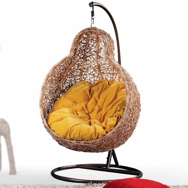 Rattanmöbel   50 Basket Hanging Chair   Cool Interior Design Ideas For Hanging  Chair With Frame