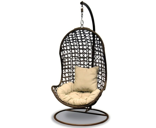 Ergonomically Designed 50 Basket Hanging Chair   Cool Interior Design Ideas  For Hanging Chair With Frame