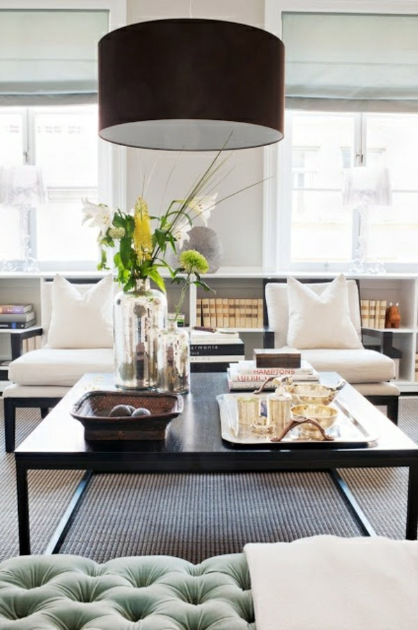 Round Shade Brown 40 Lighting Ideas For Living Room
