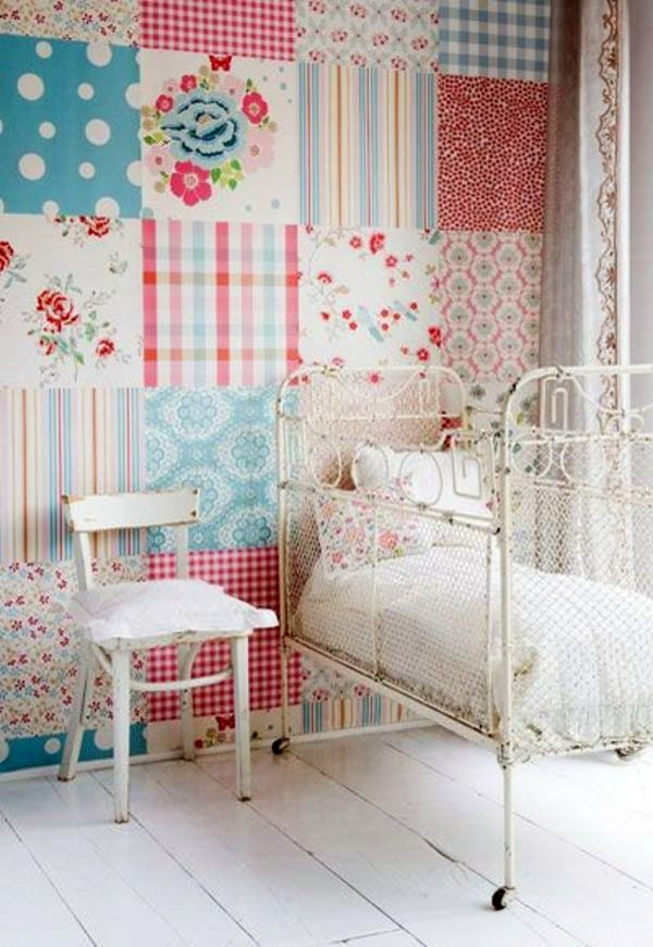 Dekoration - 35 great ideas for patchwork wall decoration