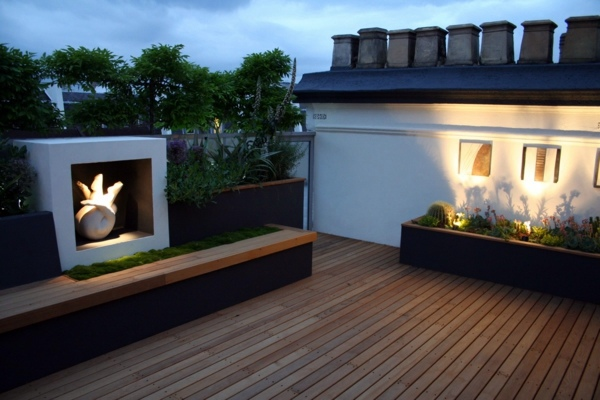 Top ideas for cool roof terrace designs how to design a for Interior design rooftop terrace