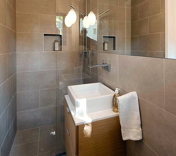 a few tips for the bathroom accessories and bathroom design which enlarge the space