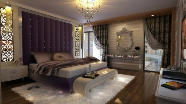 luxury purple bedroom