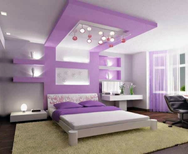 extended luxury purple bedroom