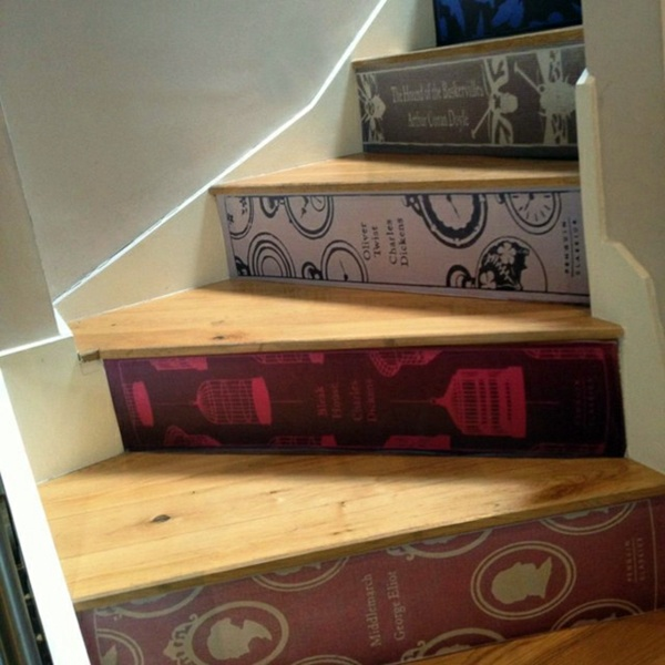 Thematic Wooden Steps 20 Decorating With Books   Are You Crazy About Books?