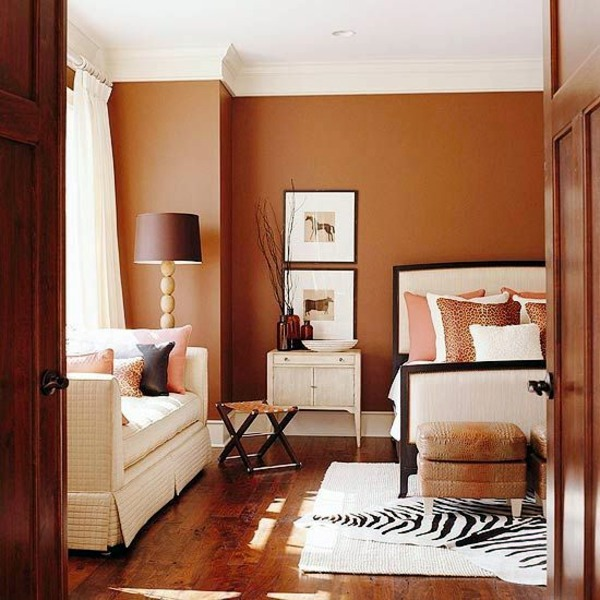 Wall color brown tones warm and natural interior for Brown interior paint colors