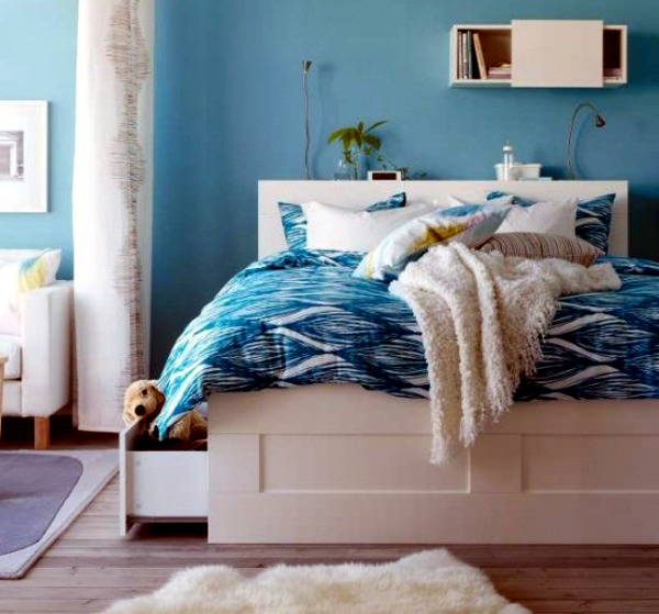 Great designs for complete ikea bedroom interior design ideas avso org - Blaue wand schlafzimmer ...