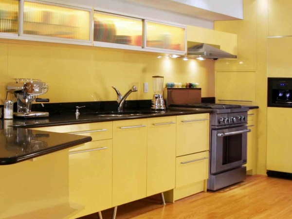 yellow painted kitchen designs – useful, creative advice
