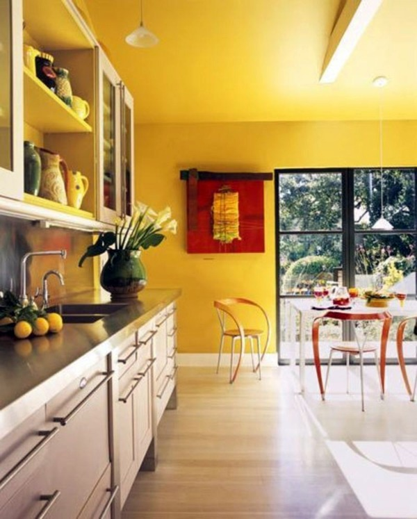 Yellow Painted Kitchen Designs Useful Creative Advice Interior Design Ideas Avso Org