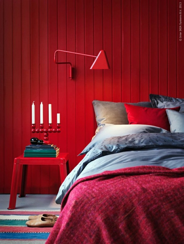 bedroom color ideas for a moody atmosphere - Bedroom Colors Red