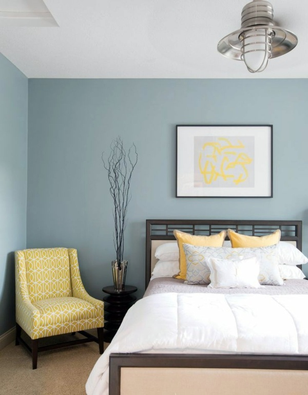 color slate blue and yellow as an accent color pastels colors for