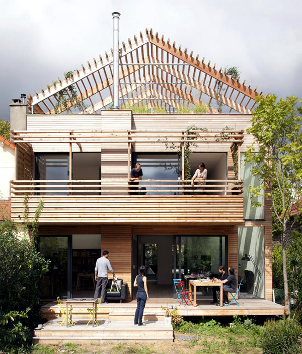 Sustainable eco house in paris with a flexible layout Design a sustainable house lesson plan
