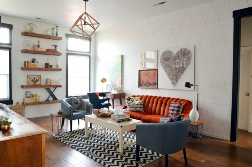 Beautiful ... Living Room Design Ideas In Retro Style   30 Examples As Inspiration