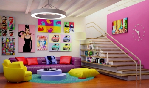 Art Living Room Design Ideas In Retro Style