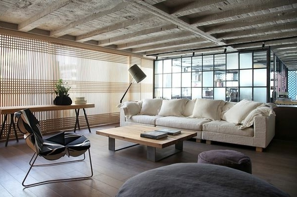 chic loft design studio and combined in a interior