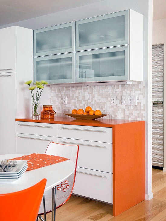 Built In Buffet Compact Kitchens That Make The Small Space Look Bigger