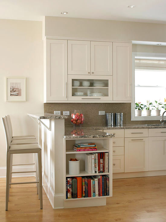 Compact kitchens that make the small space look bigger - Peninsula in small kitchen ...