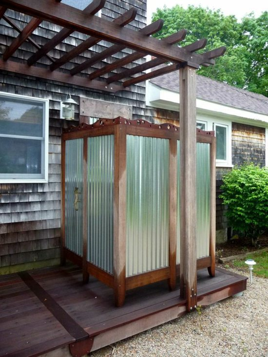 Outdoor shower build yourself learn the main rules for Building an outdoor bathroom