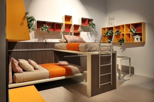 Colorful Great Loft Beds For Children And Adults Excellent Bedroom Furniture Interior Design