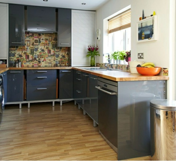 Silver Kitchen Cabinet