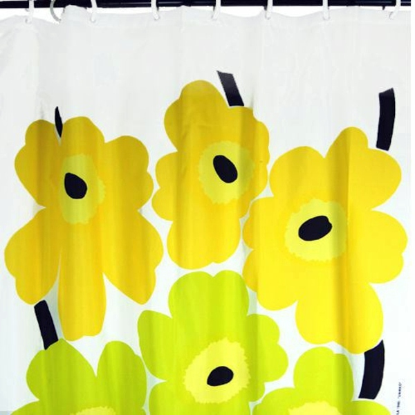 Marimekko Shower Curtain Fresh Colors And Patterns In The Bathroom