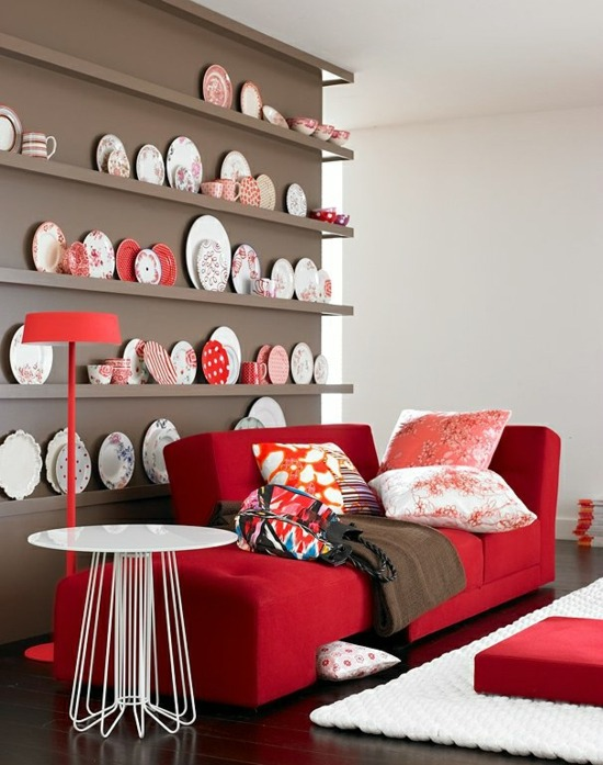 ... Red Accents Perfectly Matches Interior Design With Colors   What Colors  Find Place In Your Home?