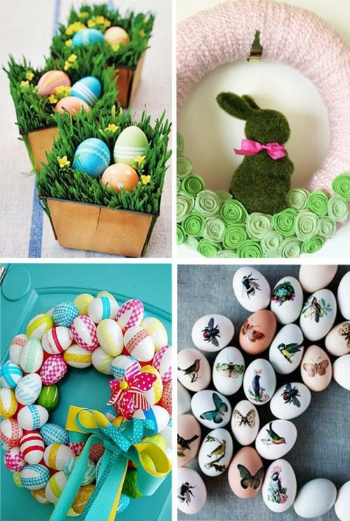 Osterdeko - 40 decorating ideas for Easter decoration with Easter eggs