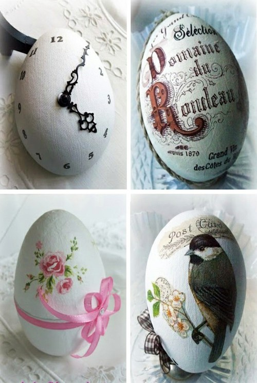40 decorating ideas for Easter decoration with Easter eggs