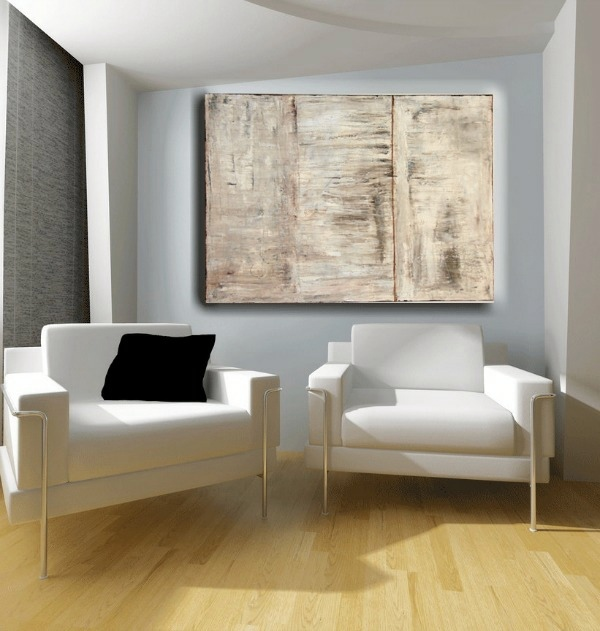 ... Creative wall design with abstract art