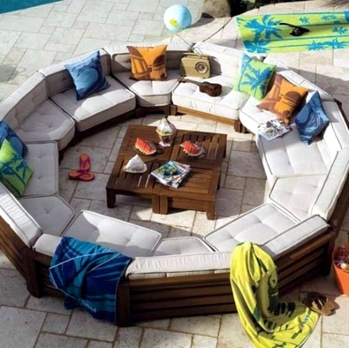 Beautiful And Modern Outdoor Furniture Garden Ideas: 20 Cool, Modern Garden Furniture Mounted Designs For