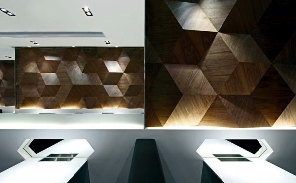 Geometric Shapes Embossing A Modern Restaurant Design