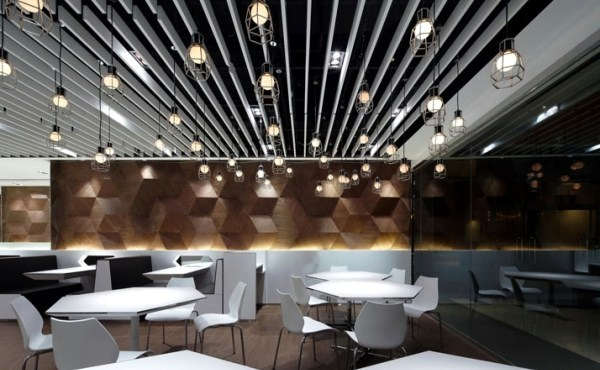 ... Geometric shapes embossing a Modern Restaurant Design ...
