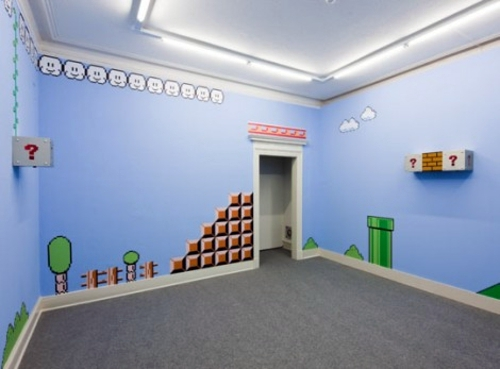 ... Creative Interior Design With Patterns From Video Games