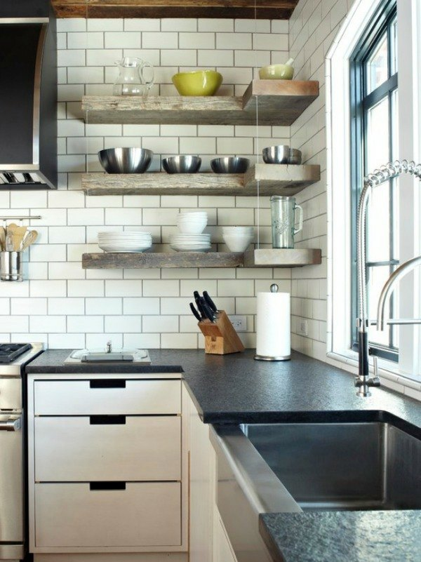 ... Of Gray Corner Shelf For Space Saving   Ideas For Practical Organization