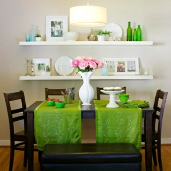 Dining Room Shelf Idea: Fresh Spring Decorations In The Dining Room