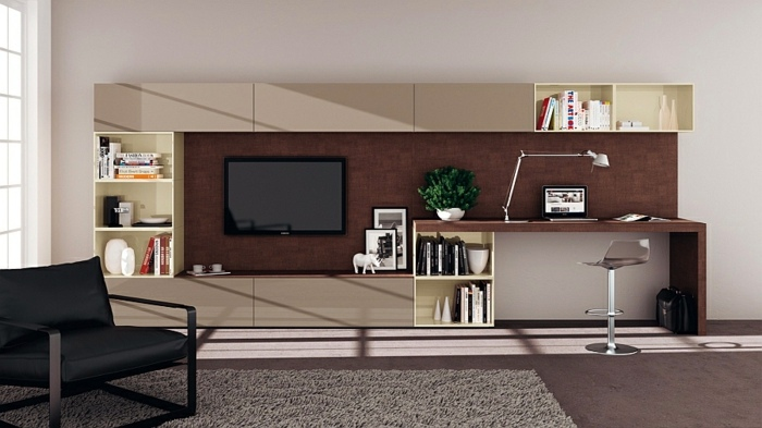 Wall Of The TV Room In The Modern Lounge Living Room Interior Design Ideas  In Minimalist Style