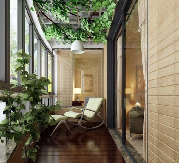 Cool ideas for balcony plants practical advice to make a for Balcony interior designs pictures