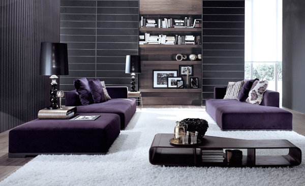 Ambience in Purple - The splendor of the violet interior