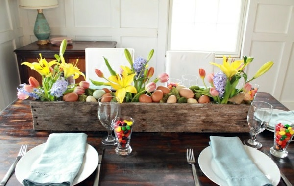 Osterdeko basteln - Make arrangements Easter itself - creative craft ideas for Easter