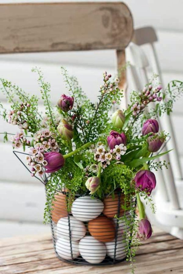 Make arrangements Easter itself - creative craft ideas for Easter