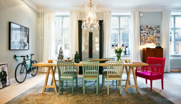 Scandinavian Interior Design With Colorful Touches