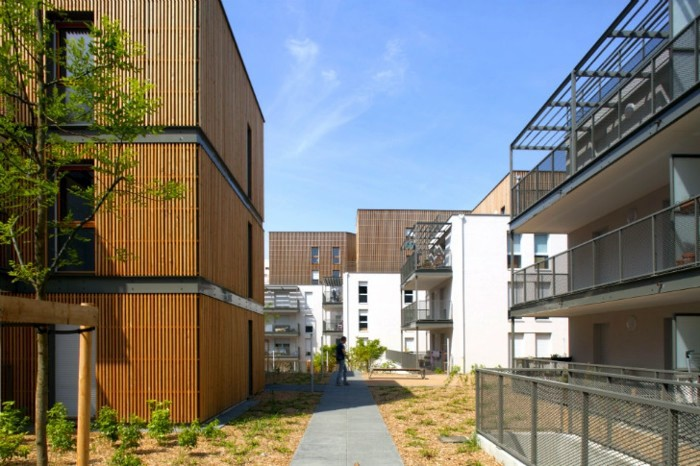 Modern Living And Sustainable Building In A District In