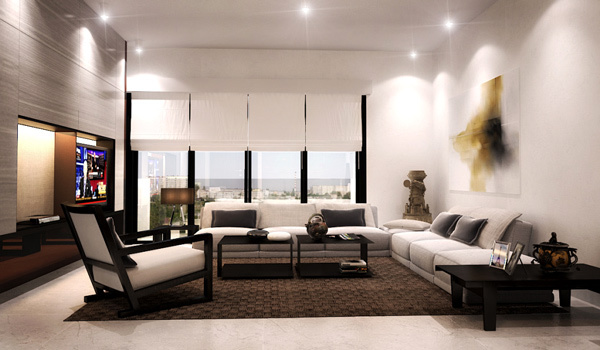 21 gorgeous modern, minimalist living room design ...