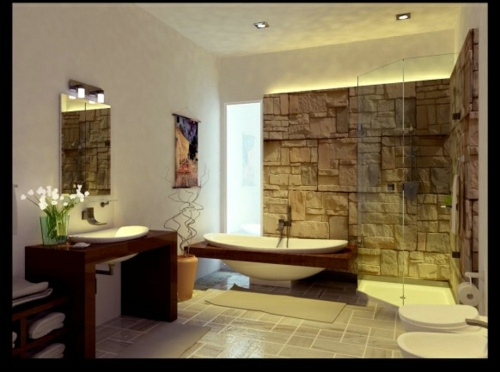 Stone Bathroom Designs Sensational Bathrooms With Natural