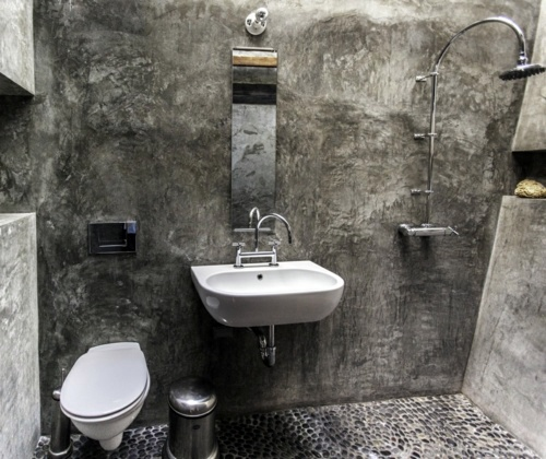 Interesting Bathroom Design Everything In The Bathroom Of Rough Stone Interior Design Ideas