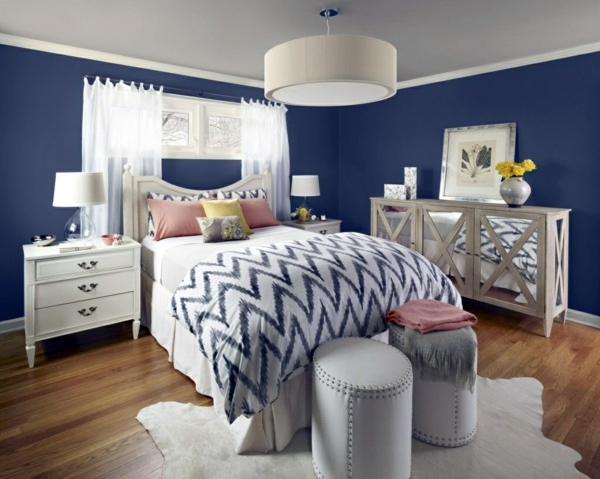 two colour bedroom walls. Grey in combination with pastel colors Select bedroom wall color and make a  modern feel Interior Design