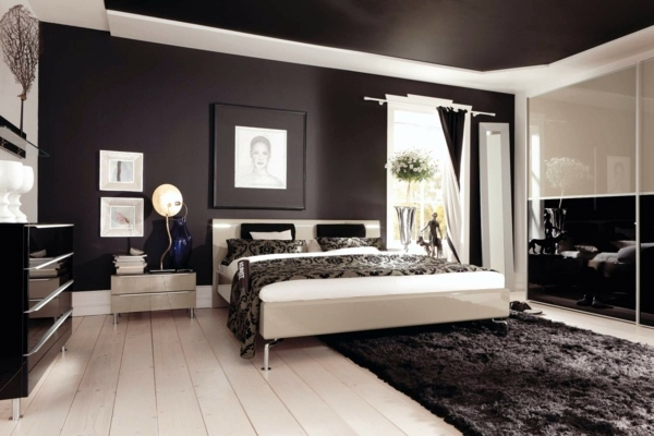 Black And White   A Classic Color Combination Select Bedroom Wall Color And  Make A Modern Feel