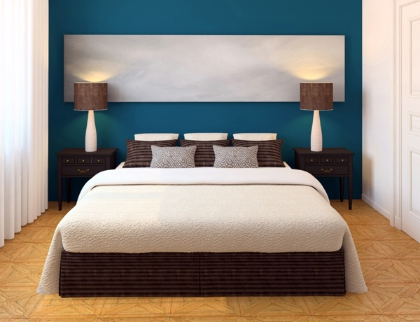 Attractive Strong Colors Room Wandgestaltung   Select Bedroom Wall Color And Make A  Modern Feel