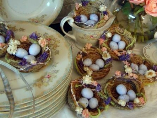 rustic with nests and flowers 100 ideas for original easter decoration